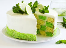 Chess cake with pistachios Royalty Free Stock Images