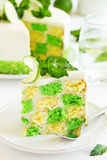 Chess cake with pistachios Stock Images