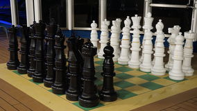 Chess on the Carnival Breeze Stock Photography
