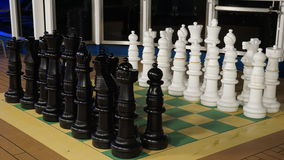 Chess on the Carnival Breeze Stock Photo