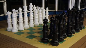 Chess on the Carnival Breeze Royalty Free Stock Photography