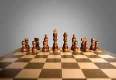 Chess Challenge. Chess Board Board Game Strategy Leisure Games Chess Piece Team Royalty Free Stock Photo