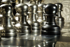 Chess Challenge. Challenge concept, picture taken to show the concept of courage and being brave Stock Photo