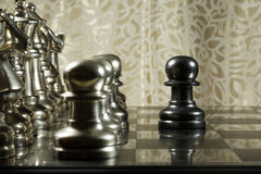 Chess Challenge. Challenge concept, picture taken to show the concept of courage and being brave Royalty Free Stock Image