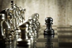 Chess Challenge. Leadership, authority , brave and courageous Stock Photo