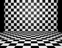 Chess checkered black and white texture. Stock Images