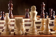 Chess, Checkmate. By Black Rook royalty free stock photography