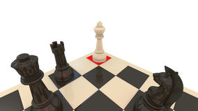 Chess checkmate. A cornered king on a chess game vector illustration