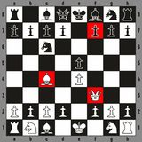 Chess Checkmate play fastest way to win beginner players Stock Image