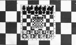 Chess in chess Stock Image
