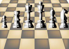 Chess and chess board Stock Photos