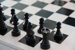 Chess, Chess Board, Black, Play Stock Image