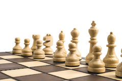 Chess on the chess board Stock Photo