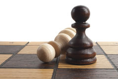 Chess on the chess board Stock Image