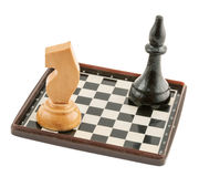 Chess with a chess board Royalty Free Stock Photography