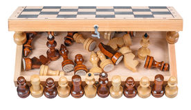 Chess with a chess board Royalty Free Stock Photos