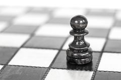 Chess. Chess board. Wooden chess pieces. black and white Royalty Free Stock Photography