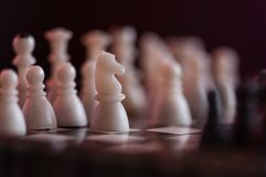Chess. Pieces on a board, in competition Stock Images