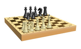 Chess on chessboard Royalty Free Stock Photography