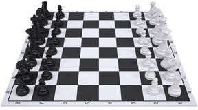 Chess on the chessboard Stock Images