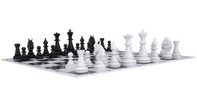 Chess on the chessboard Royalty Free Stock Images