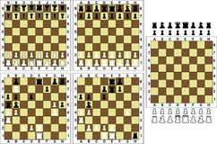 Chess. Board and  pieces - vector illustration Royalty Free Stock Image