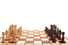 Chess on chessboard royalty free stock photo