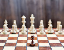 Chess on chessboard, concept image Royalty Free Stock Photos