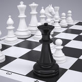 Chess on the chessboard Royalty Free Stock Image