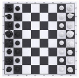 Chess on the chessboard. Top view Royalty Free Stock Photos
