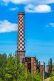 Chess chimney Royalty Free Stock Photos