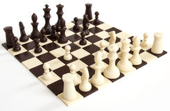 Chess Chocolate. The chocolate isolated on a white background Stock Image