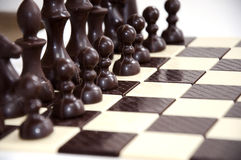 Chess Chocolate. The chocolate isolated on a white background Royalty Free Stock Photos
