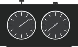 Chess clock. A contour. A vector illustration Royalty Free Stock Images
