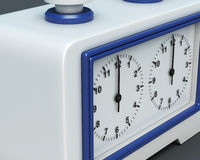 Chess clock closeup. 3d rendering Stock Photo