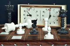 Chess with clock. Stock Photography