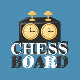 Chess clock icon. Chess clock over blue background, colorful design. vector illustration Stock Photos