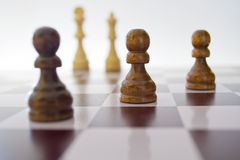 Chess. Closeup of a game of chess Royalty Free Stock Photography