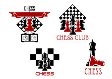 Chess club and tournament symbols Stock Images