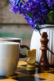 Chess and coffee Royalty Free Stock Photos
