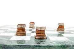 Chess coins Royalty Free Stock Photos