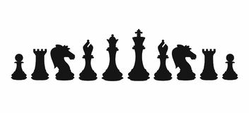 Chess colorful figures pieces tournament game vector illustration. Design Stock Image