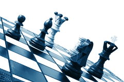 Chess competition Stock Image