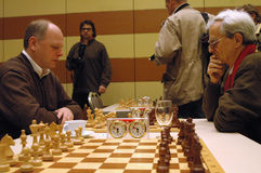 Chess competition politicians Stock Image