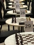A chess competition, tournament Royalty Free Stock Images