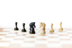 Chess, competitors meeting Royalty Free Stock Image