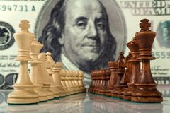 Chess composition Royalty Free Stock Photography