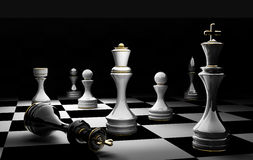 Chess concept checkmate 3D. Chess concept image - checkmate 3D render Stock Photos