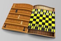 Chess Concept Magazine Mock-Up Stock Image
