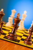 Chess concept with pieces. On the board Stock Image